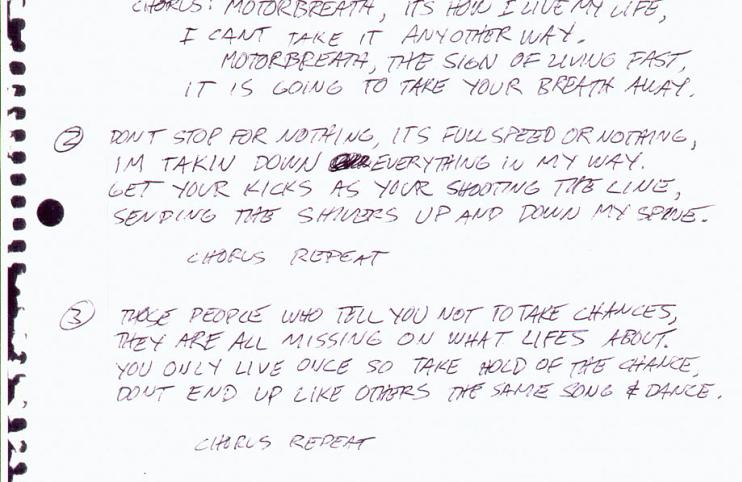 Handwritten Lyrics   Metallica com
