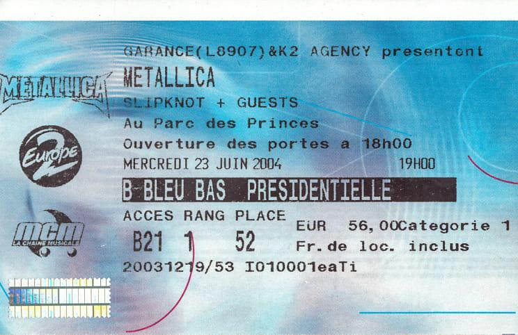 Tour Memorabilia (2004)