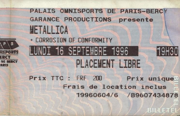 Tour Memorabilia (1996)